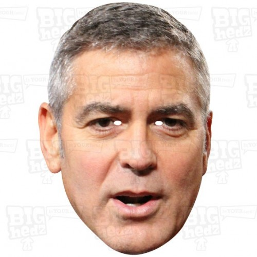 GEORGE CLOONEY : A3 Size Face Mask