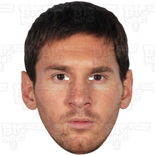 LIONEL MESSI : Life-size Face Mask