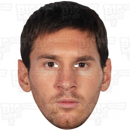 LIONEL MESSI : Life-size Celebrity Face Mask by BIGhedz