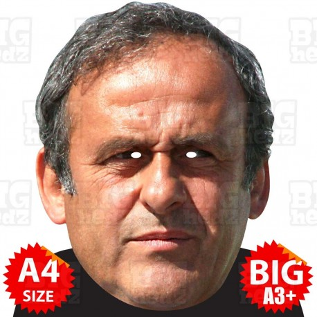 MICHEL PLATINI : BIG A3 Size Face Mask