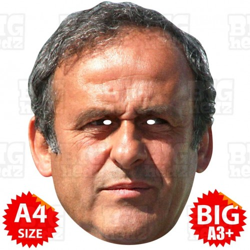 MICHEL PLATINI : Life-size Face Mask