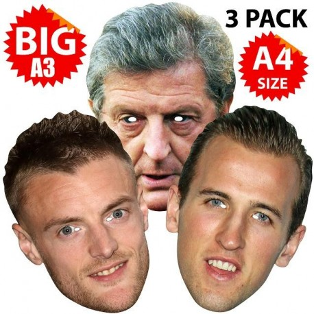 ENGLAND EURO 2016 : 3x Face Mask Pack