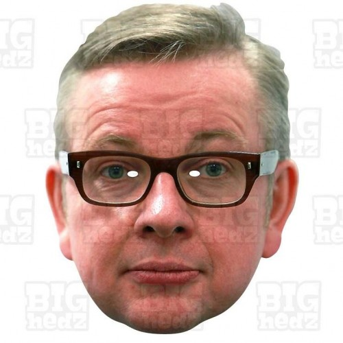 MICHAEL GOVE : Life-size Face Mask