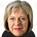 THERESA MAY : BIG A3 Size Card Face Mask