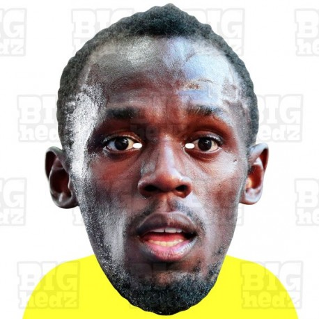 USAIN BOLT : Life-size Card Face Mask