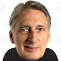 Philip Hammond : BIG A3 Size Card Face Mask Chancellor of the Exchequer