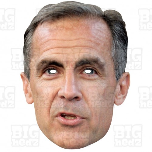 MARK CARNEY : Life-size Face Mask