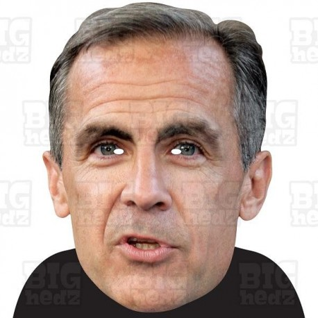 MARK CARNEY : BIG A3 Size Card Face Mask - Governor of The Bank of England