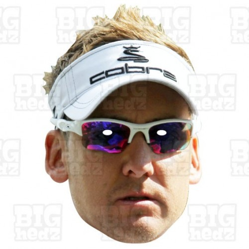 IAN POULTER : Life-size Card Face Mask Ryder Cup Vice Captain