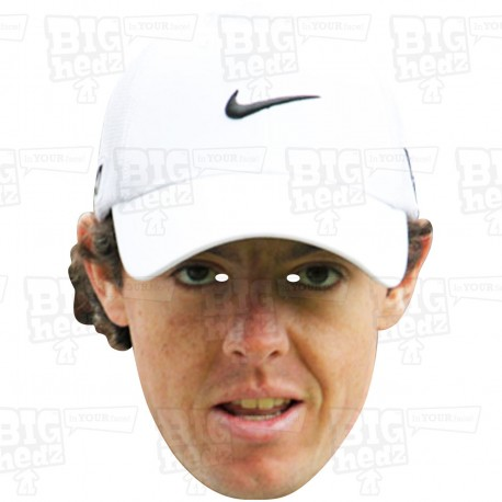 RORY McILROY : Life-size Card Face Mask - Europe Ryder Cup 2016