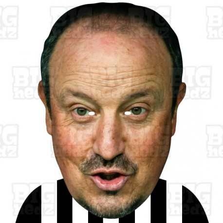 RAFAEL BENITEZ : BIG A3 Size Card Face Mask - Newcastle United Manager