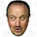 RAFAEL BENITEZ : Life-size Card Face Mask - Manager Newcastle United Championship