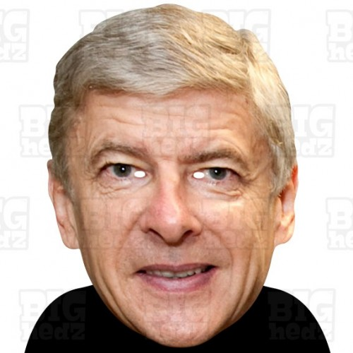 Arsene Wenger : BIG A3 Size Card Face Mask - Arsenal Manager