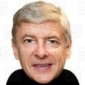 Arsene Wenger : BIG A3 Size Card Face Mask - Arsenal Manager