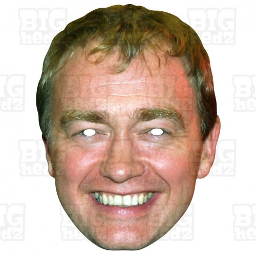 TIM FARRON : Life-size Card Face Mask