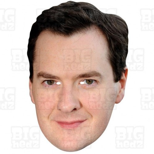 GEORGE OSBORNE : Life-size Card Face Mask