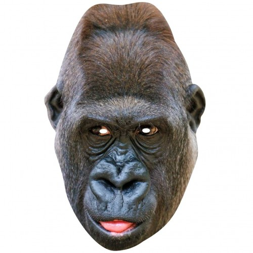 GORILLA : Life-size Card Face Mask