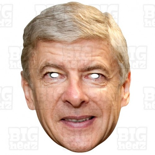 ARSENE WENGER : Life-size Card Face Mask
