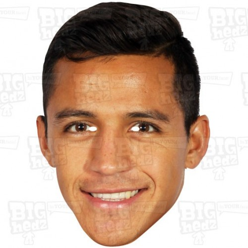 ALEXIS SANCHEZ : Life-size Card Face Mask
