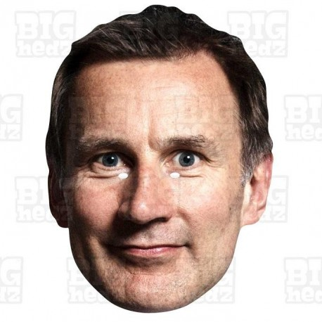 JEREMY HUNT : BIG A3 Size Card Face Mask