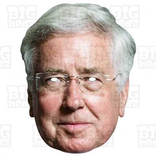Sir MICHAEL FALLON : Life-size Card Face Mask