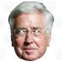 Sir MICHAEL FALLON : Life-size Card Face Mask