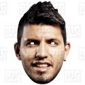 """SERGIO """"Kun"""" AGUERO : Life-size Card Face Mask"""