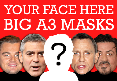 BIG A3 Face Masks from your images