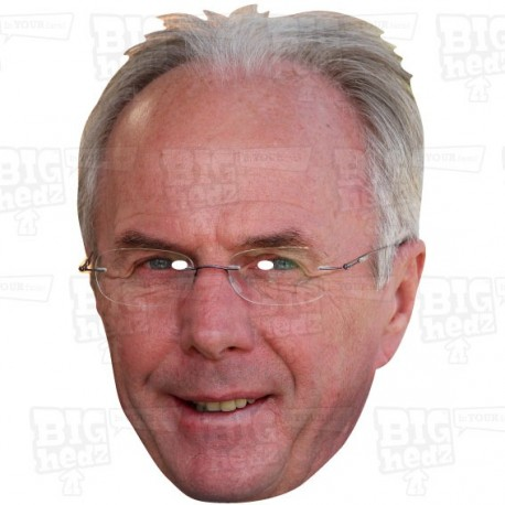 SVEN GORAN ERIKSSON : BIG A3 Size card face mask