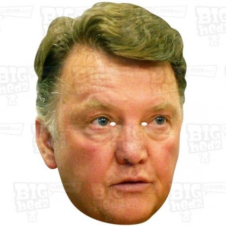 LOUIS VAN GAAL(retro) : BIG A3 Size card face mask