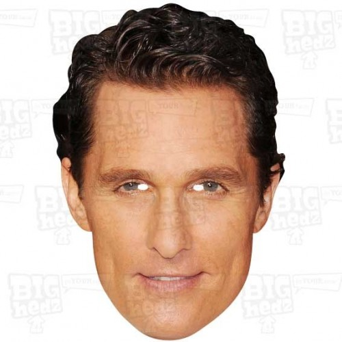 MATTHEW McCONAUGHEY : A3 Size Face Mask