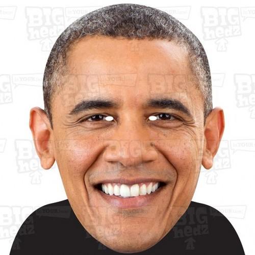 BARACK OBAMA : A3 Size Face Mask