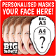 Personalised Face Masks : BIG A3 Size masks!