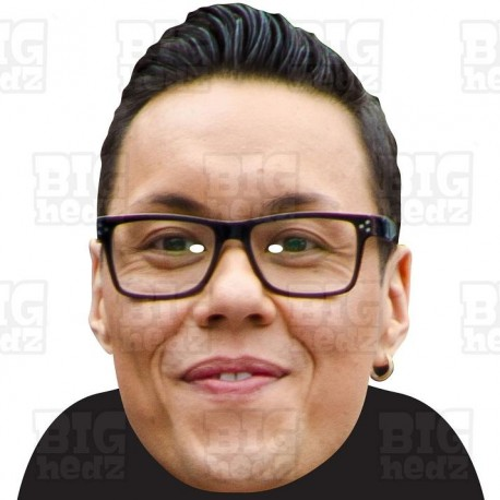Card Face and Fancy Dress Mask Gok Wan Celebrity Mask