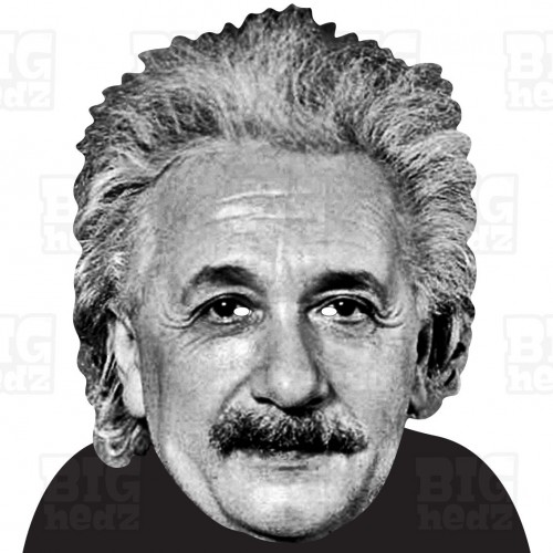 ALBERT EINSTEIN : BIG A3 Size Face Mask