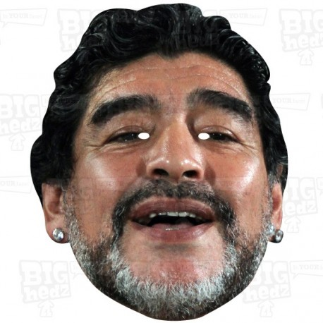 Diego Maradona Celebrity Face Mask by BIGhedz