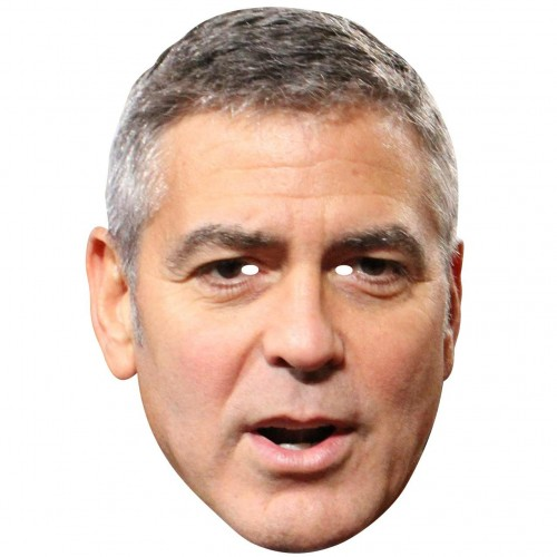 GEORGE CLOONEY : Life-size Face Mask