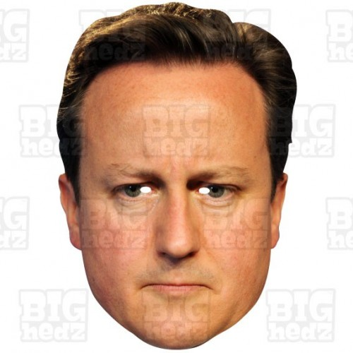 DAVID CAMERON : Life-size Face Mask