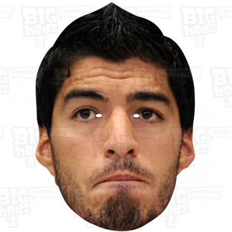 LUIS SUAREZ : Life-size Celebrity Face Mask by BIGhedz