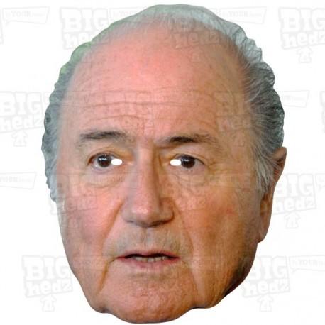SEPP BLATTER : ex FIFA President, Life-size Face Mask