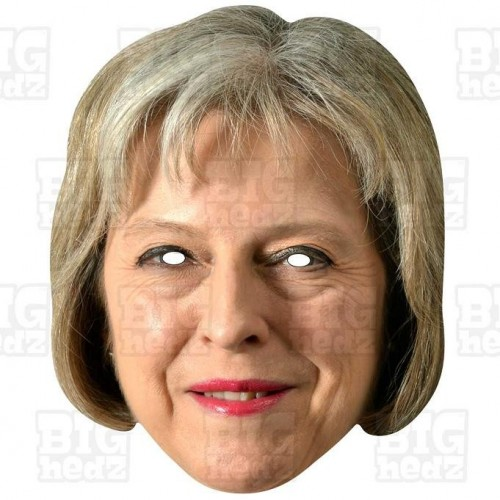THERESA MAY : Life-size Card Face Mask