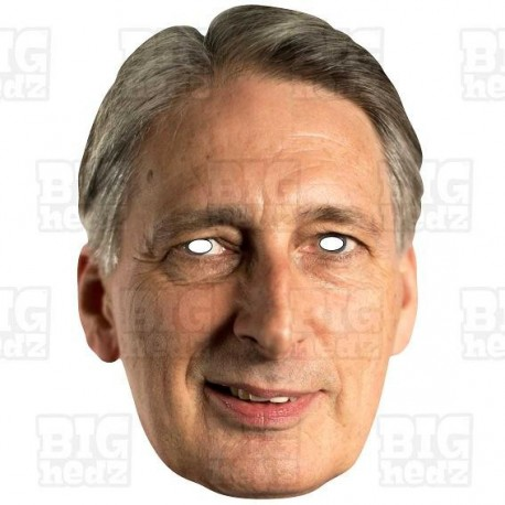 PHILIP HAMMOND : Life-size Card Face Mask - Chancellor of the Exchequer