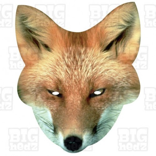 FOX : Life-size Card Face Mask