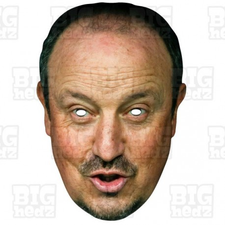 RAFAEL BENITEZ : Life-size Card Face Mask - Manager Newcastle United Championship