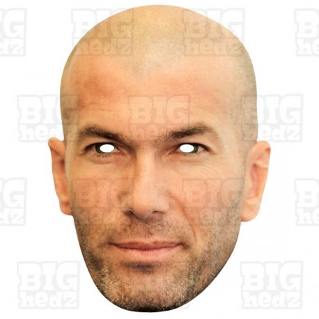 Zinedine Zidane : Life-size Card Face Mask - Real Madrid Manager