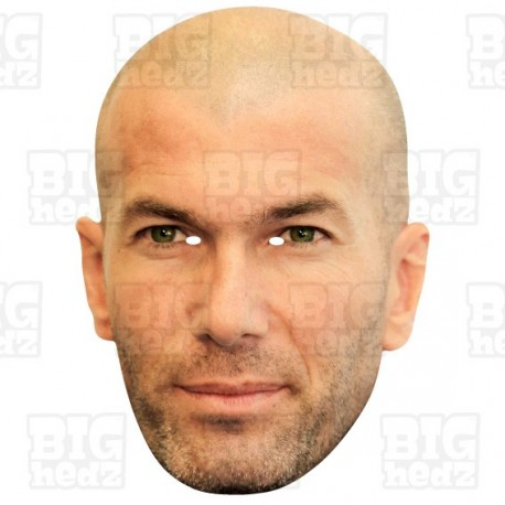 Zinedine Zidane : BIG A3 Size Card Face Mask - Real Madrid Manager