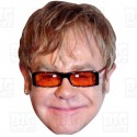 ELTON JOHN : Life-size Card Face Mask