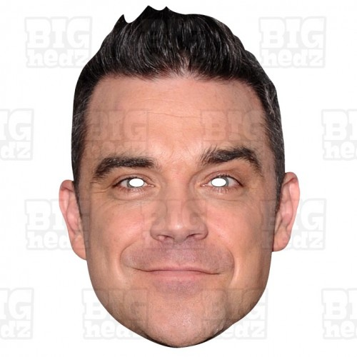 ROBBIE WILLIAMS : Life-size Celebrity Card Face Mask - Take-That and party!