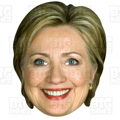 HILLARY CLINTON : BIG A3 Size Card Face Mask