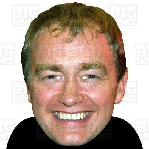 TIM FARRON : A3 Size Card Face Mask